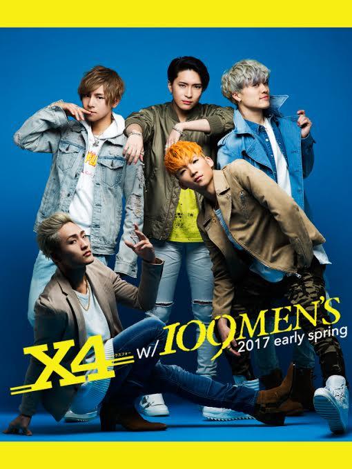 <X4 w/ 109MEN'S>スタート!
